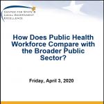Public Health Workforce Webinar